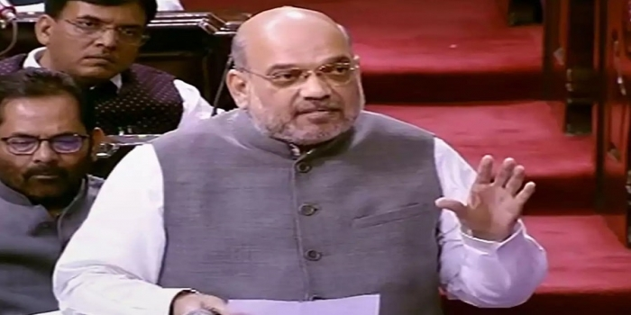 Amit Shah Hits Out at Congress on the Issue of Jailed Political Leaders of Jammu and Kashmir