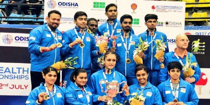 Naveen Congratulates Indian Table Tennis Team for Winning Gold
